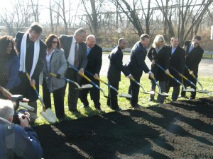Mayor Pawlowski and other elected officials break ground on American  Parkway Bridge