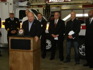 Cetronia Ambulance Corps and Mayor Pawlowski announce amublance donation