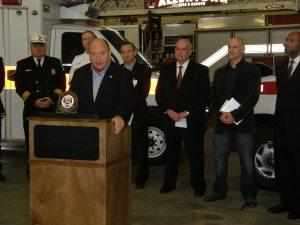 Cetronia Ambulance Corps and Mayor Pawlowski announce amublance donation