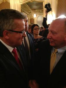 Mayor Pawlowski Chats with President Komorowski