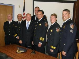 Mayor Pawlowski Stands Next to Interim Police Chief Joe Hanna