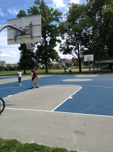 Resurfaced Basketball Courts at Jordan Park